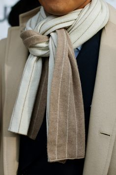 Interesting scarf configuration from Sartorialist.