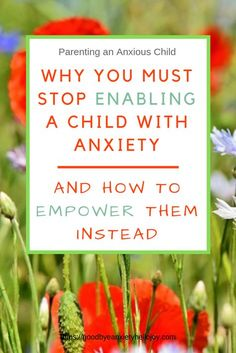 Empowering Children with Anxiety This is the number one must-read topic for any parent of an anxious child. We must learn how and why to stop enabling a child with anxiety and empower them instead. Parenting Advice, Kids And Parenting, Foster Parenting, Parenting Quotes, Peaceful Parenting, Parenting Classes, Parenting Styles, Mentally Strong, Anxiety In Children