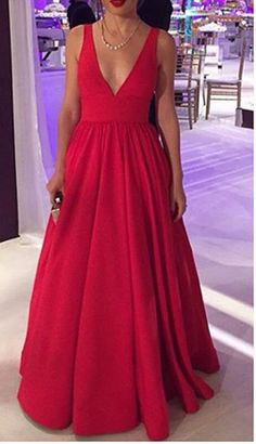 Deep V Neck Sleeveless Backless Red Evening Dresses Prom Gowns,Off the Shoulder Open Back Plus Size Prom Dresses Evening Gowns UK Graduation Dress