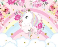 Unicornios Wallpaper, Happy Wallpaper, Flower Background Wallpaper, Unicorn Painting, Unicorn Art, Cute Unicorn, Birthday Tarpaulin Design, Horse Template, Unicorn Wallpaper Cute