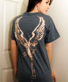 Bleached Angel Wing T Shirt by Colony64 on Etsy, $18.00