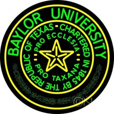 #Baylor University Neon Sign! Oh my goodness I need this!