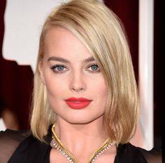 lob hair haircut bob hairstyle medium hair short hair Margot Robbie