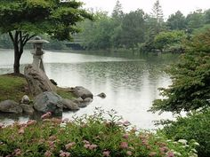 Buffalo's Japanese Garden in the Olmsted-designed Delaware Park.