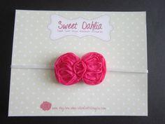 Simply Sweet Chiffon Bow Headband - Dark Pink. $3.00, via Etsy. hair bow clip soft baby infant child toddler headband