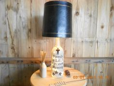 Family Blessing Lamp Family Reunion Light  by AfterAGlassCreations  Check out my Esty shop I can also make any Liquor Bottle or Wine Bottle into a Light. I also create things out to Pallets.