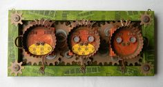 Recycled Art Assemblage    Sanzaru    Original by redhardwick, $175.00