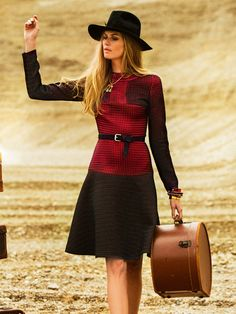Long Sleeved Two Tone Dress 10/2014