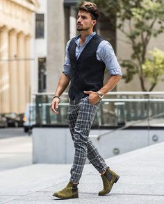 Perfect gentleman @marianodivaio with  #nohow products : Korean Collar Shirt , Ezio Vest , Riccardo Trousers , Italy Chelsea Boots .  Total look is 100% Made in Italy and in exclusive on nohowstyle.com