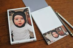 We just made this photo notepad on Pinhole Press (my friends' company)… Simple Photo, Grandparent Gifts, Homemade Christmas Gifts, Grandparents Day, Custom Photo, Cute Gifts, Baby Photos, Little Ones, Baby Kids
