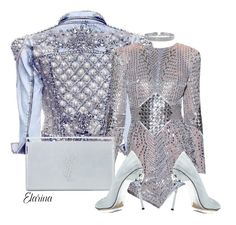 Designer Clothes, Shoes & Bags for Women Fashion 101, Cute Fashion, Urban Fashion, Womens Fashion, Silver Outfits, Dressy Outfits, Cool Outfits, Glitz And Glam, Zuhair Murad