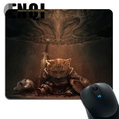 1pcs WARRIOR CAT Background pattern Notebook Optics Rectangular mouse pad #Affiliate