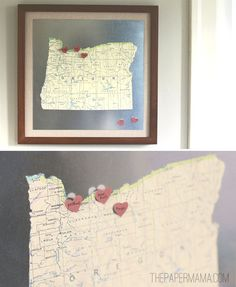How to create a magnetic map to document your state travels!