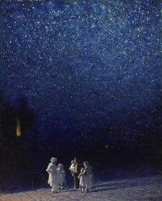 Edward Potthast (1857-1927), Starry Night - 1918 source: http://leprincelointain.tumblr.com