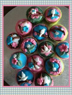 Vogel cupcakes