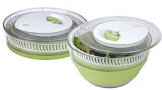 Kitchen gadgets that save time and space. This inventive spinner collapses to slide easily into a drawer, and the bowl also can be removed and used as a colander. ABOUT: Collapsible salad spinner, $18, Target.com
