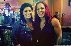 Six years after their historic Strikeforce title fight, Cristiane Justino and Gina Carano reunited for a photo opportunity.