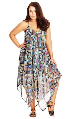 City Chic Prism Maxi Dress - Women's Plus Size Fashion - Taste of Summer // City…