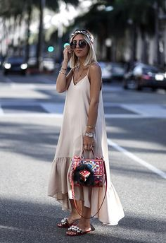 Everyday look beach vacation outfits, vacation style, yves saint laurent, city outfits, Slip Dress Outfit, Summer Dress Outfits, Casual Dress Outfits, Slip Dresses, Dress Skirt, Dress Shoes, Fashion Mode, Minimal Fashion, Look Fashion
