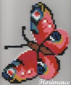 Butterfly hama perler beads by Florimence
