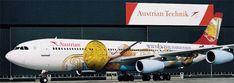 """Airbus A340 Rakouských Aerolinií pojmenovaný """"Wiener Philharmoniker"""" létá do celého světa"""