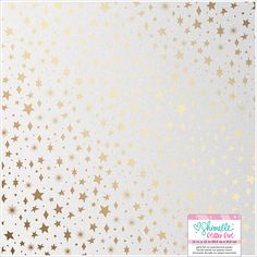 American Crafts - Glitter Girl Collection - 12 x 12 Pearlescent Paper with Foil Accents