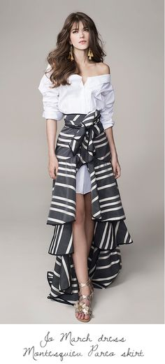 Johanna Ortiz Spring 2016 Ready-to-Wear This outfit would be lovely if the shirt tail was longer. White Fashion, Look Fashion, Fashion Show, Womens Fashion, Fashion Design, Fashion Trends, Formal Fashion, Fashion Spring, Neue Outfits