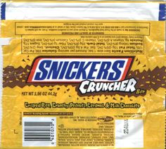 Snickers cruncher wrapper
