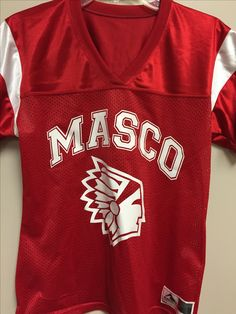 Printed front on a football jersey