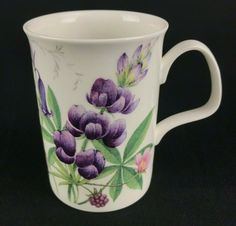 Roy Kirkham English Meadow Pink Poppy Design Bone China Mug Traditional Drink