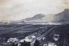 """1948 """"View of camp with Kowloon City in the background"""" Kai Tak Airport, Those Were The Days, Paris Skyline, Hong Kong, Past, Camping, Memories, History, City"""