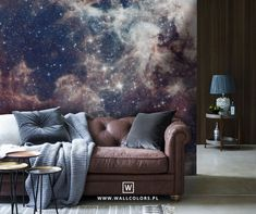 galaxy wallpaper, removable, nebula and stars, universe, background with stars, space, modern living room decor, gift for dad diferent sizes