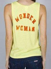 Wonder Woman Superhero's Cropped Tank  www.junkfoodclothing.com #junkfoodtees