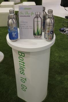 "SodaStream ""On the Go"" Carbonating Bottles - Stainless Steel and BPA-Free."