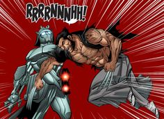 Wolverine (Logan) vs Silver Samurai (Shin Harada) by Paco Diaz