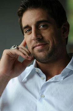 Aaron Rodgers. Dimples - check. Crow's feet - check. Scruff - check. Sexy time in 3...2...1...