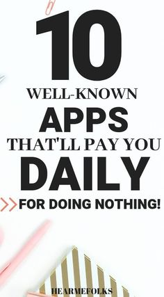 Make Money - Get Paid for doing nothing. Want to be paid for doing what you already do? These apps will do exactly that. #appsthatpay #moneymakingideas #extracash #appsmusthave #makemoneyonline