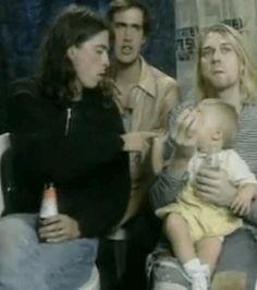 Nirvana - Dave e Frances Freddie Mercury, Foo Fighters Nirvana, Kurt And Courtney, Grunge, Frances Bean Cobain, Donald Cobain, Nirvana Kurt Cobain, Dave Grohl, Musical