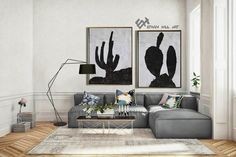 Set of 2 cactus Painting Large Canvas Wall Art Set of 2 image 5 Cactus Painting, Cactus Art, Abstract Landscape Painting, Landscape Paintings, Abstract Animal Art, Zebra Art, Large Canvas Wall Art, Minimalist Painting, Black And White Painting