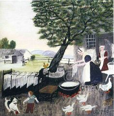 candlemaking ? grandma moses  this has been one of my favorites since a little girl. |Pinned from PinTo for iPad|