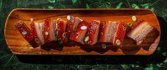 Chef Chris Kajioka of Senia in Honolulu makes kalua pork with a rich roasted chicken stock.