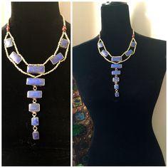 Gypsy midnight blue necklace - Kuchi necklace - Tribal - vintage - Deep blue Necklace - boho necklace - Handmade - Tribal Jewelry