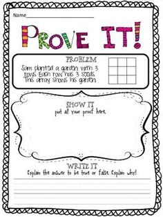 Math graphic organizer