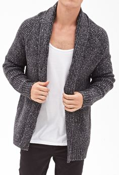 I have this sweater and LOVE it - it's so long, warm, and cozy! Cable Knit Cardigan | 21 MEN - 2000060549