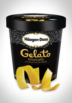 Creamy, tempting lemon gelato that's sweet and zesty and anything but tart. #HaagenDazs #Gelato #Lemon #Limoncello #Dessert #Italy
