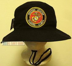 100/% Cotton Military Black Boonie Bush Hiking Outdoor Hat AFGHANISTAN VETERAN