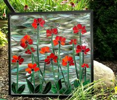 Poppies Mosaic Poppies Poppy Art Poppies Decor by MosaicArtworks, $424.00