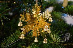 Goldene Schneeflocke aus New York City  ... #Christbaum #Schneeflocke #NewYorkCity