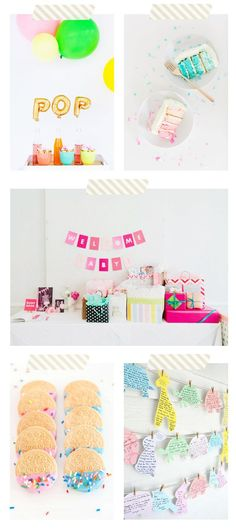 Baby Talk: 34 Weeks + Colorful Baby Shower Ideas