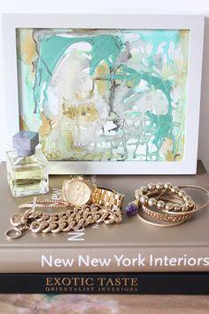 abstract painting #art #cocoaandhearts #abstract Perfume 5 - an original painting by Jen Ramos at Cocoa & Hearts